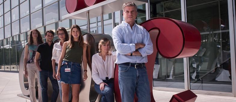De izda. a dcha. Cristina Clavería, Daniel Jimenez-Carretero, Laura Fernandez de Manuel, Covadonga Díaz-Díaz, María Montoya y Miguel Torres.