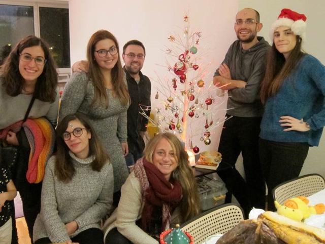 Diciembre 2017. Celebrando la temporada navideña en casa de Jorge.