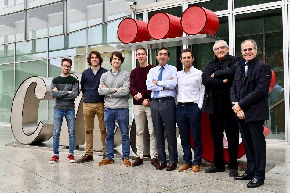 De izquierda a derecha  José Manuel Alfonso Almazán, Jorge García Quintanilla, Manuel Marina Breysse, José María Lillo Castellano, Julián Pérez Villacastín, David Filgueiras Rama, José Jalife y Nicasio Pérez Castellano.