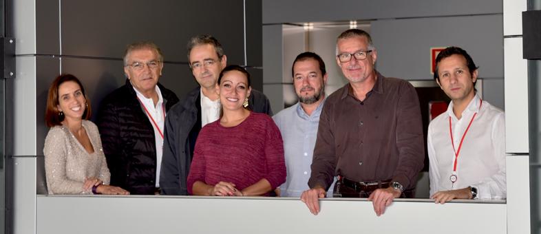 Foto: Gabriela Guzmán Martínez, José Jalife, Luis Jesús Jiménez Borreguero, Cristina González Gómez, José Rivera Torres, Vicente Andrés y David Filgueiras.