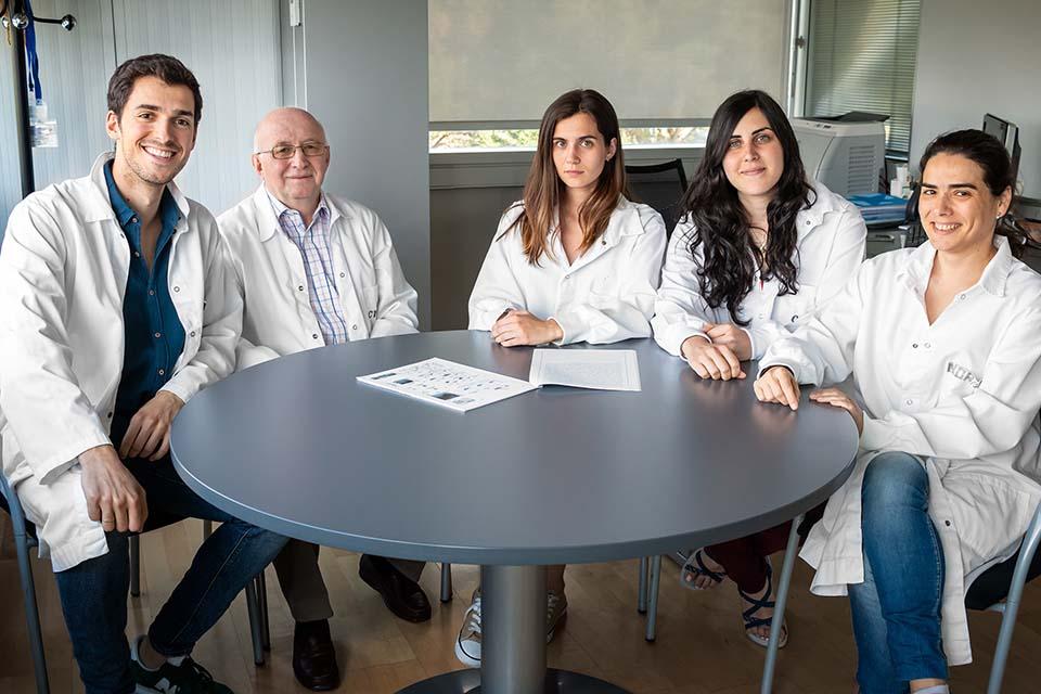 Daniel Torralba, Prof. Francisco Sánchez Madrid, Dra. Carolina Villaroya-Beltri, Irene Fernandez-Delgado, Dra. Noa Martín-Cófreces.