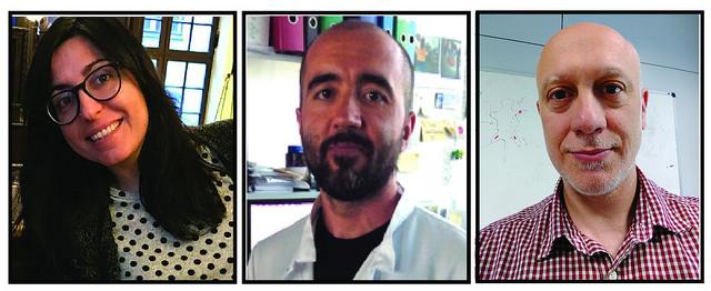 Noelia Alonso-González, Juan Antonio Quintana y Andrés Hidalgo.