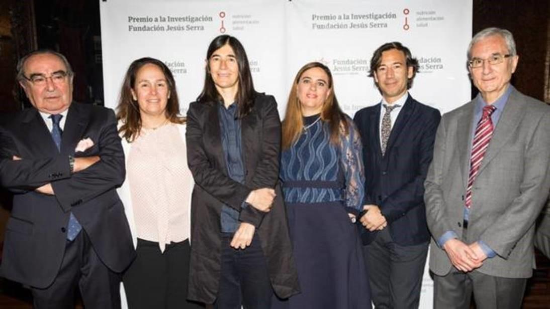 : De izda a dcha: F. Halpern, L. Halpern, Dra. Blasco, Dra. Sabio, Dr. Pérez Martinez y Dr. P. Mata