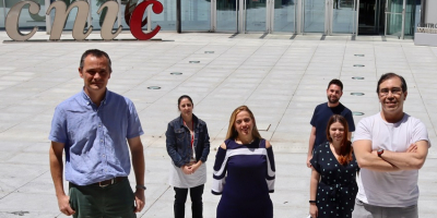 De izda. a dcha.: Alfonso Mora, María Elena Rodríguez Andrés, Guadalupe Sabio, Alejandro Rosell, Cintia Folgueira y Luis Leiva-Vega.
