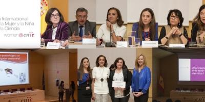 Fotos de la Jornada celebrada con motivo del Día Internacional de la Mujer y la Niña en la Ciencia en el Centro Nacional de Investigaciones Cardiovasculares Carlos III (CNIC)
