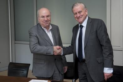 Jordi Camí, director de la Fundación Pasqual Maragall y Dr. Valentín Fuster, director general del CNIC